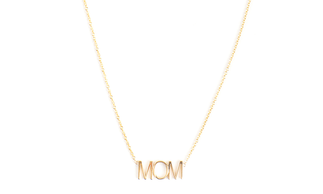 Gold Mom Necklace - Mom Jewelry