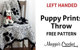 Puppy Prints Afghan Free Crochet Pattern - Left Handed...