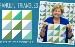 """Make a """"Tranquil Triangles"""" Quilt with Jenny Doan of Mi..."""