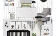 A Modern Black and White Nursery E-Design Reveal...