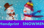 HANDPRINT Art Idea for Children - Snowmen Snowman...