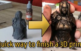 Simple, quick, cheap but effective painted finish on 3D prints...