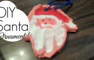Salt Dough Santa Handprint || DIY Keepsake Ornament!...