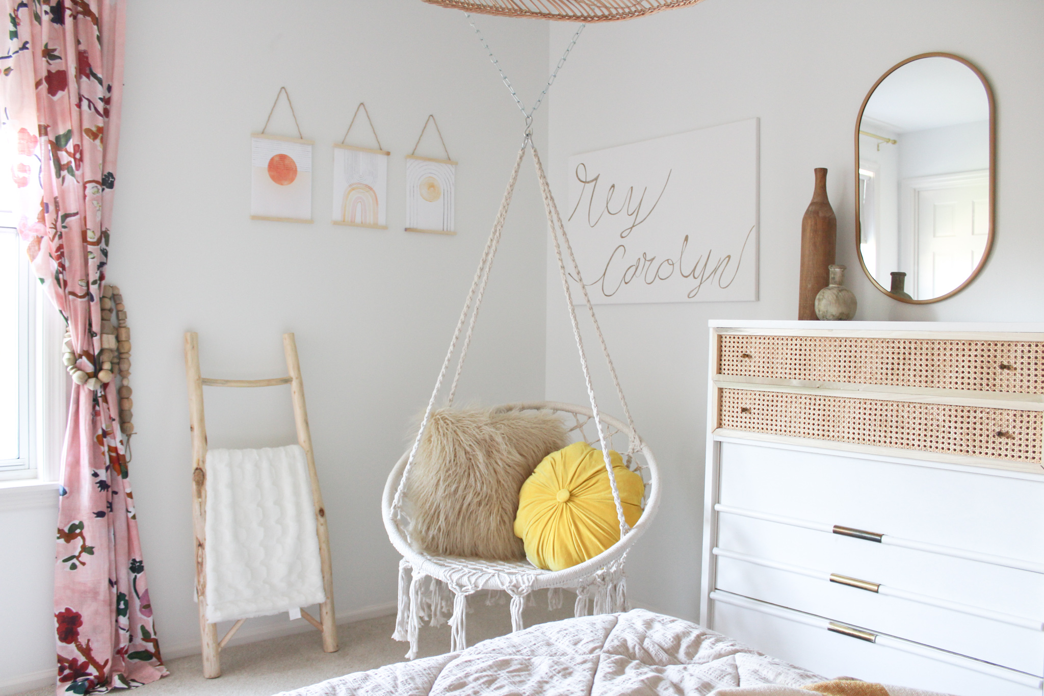 Girl's Room with Hanging Chair