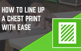 How to Screen Print: Easiest Way to Line up a Chest Print...