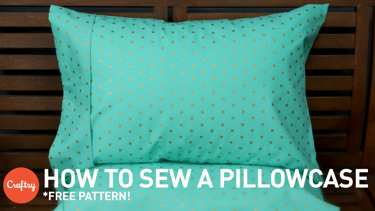 How to sew a pillowcase (with free pattern) | Sewing Tutorial wit...