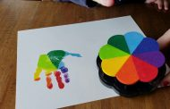 Handprint Shrinky Dink Fridge Magnets...