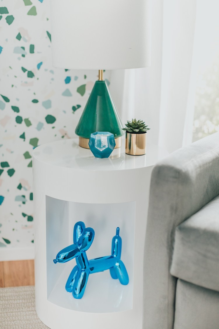 Balloon Dog Sculpture in Boy Terrazzo Nursery
