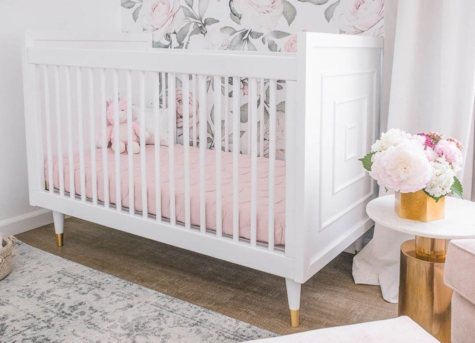 Uptown Crib in Girly Glam Floral Nursery