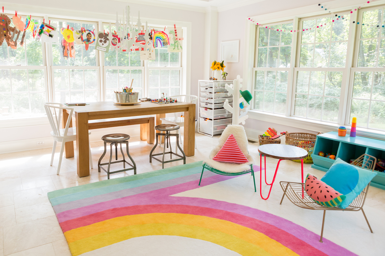 Playroom with Dining Room Table