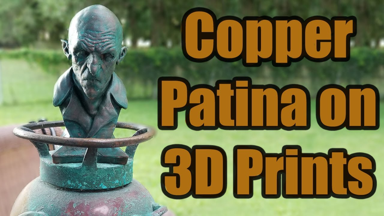 Creating a copper patina effect on 3D prints...