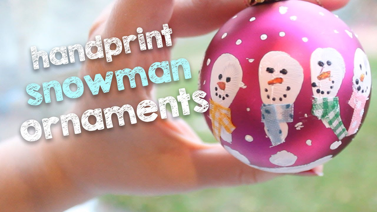 Handprint Snowman Ornaments | DIY Christmas Decorations on a Budg...