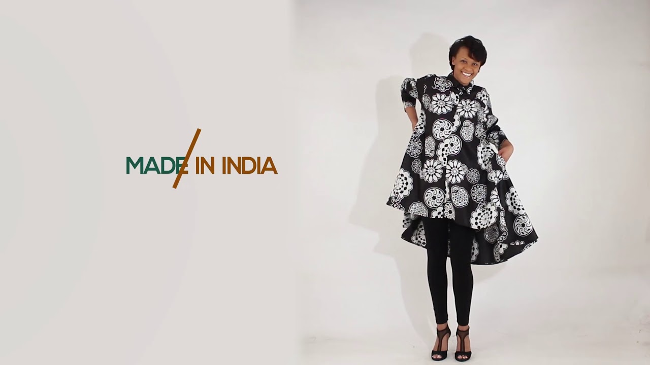 How to wear African prints - Hi-Lo shirt/smock...