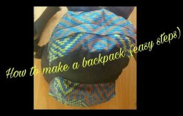 Backpack (Jean and African prints) -Part 2...