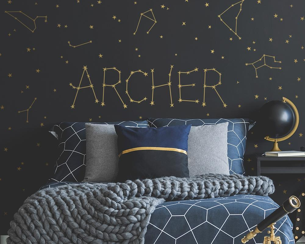 Personalized Constellation Wall Decal + Zodiac Constellation Decals