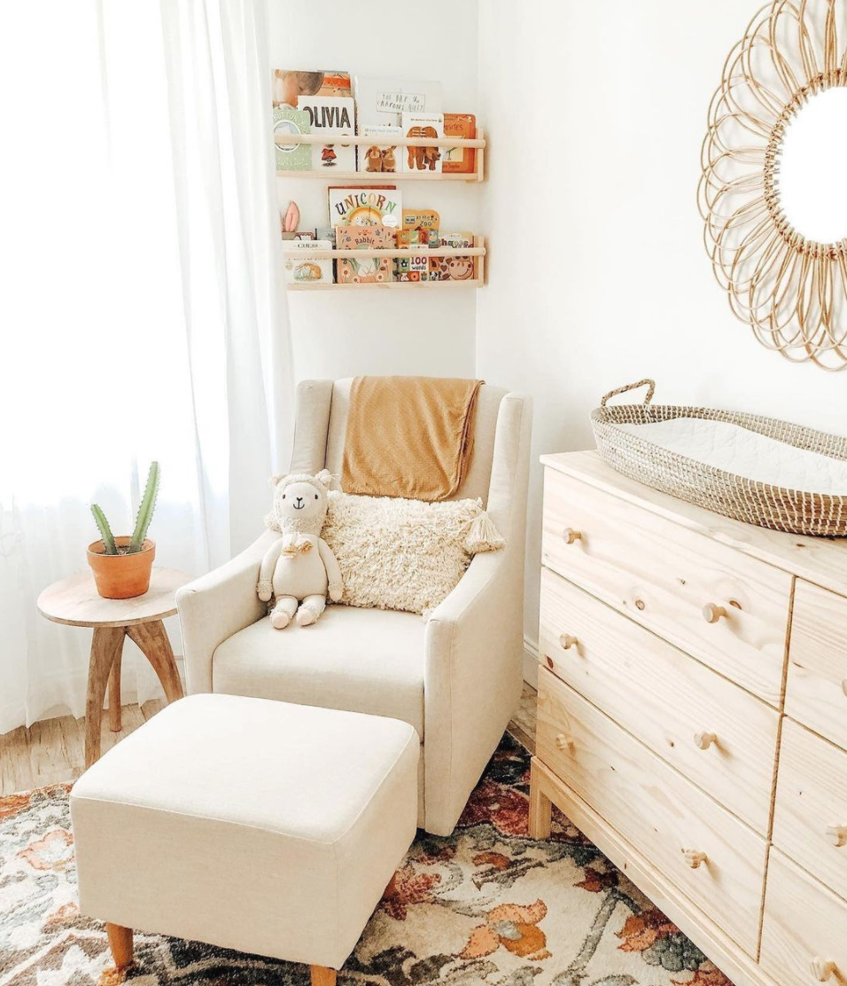 Neutral Nursery Trend - Toco Glider in Nursery by @stay_magical22