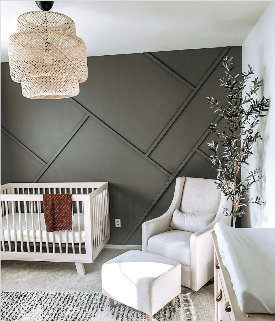 Wood Accent Walls Trend - Nursery by @home.and.ro
