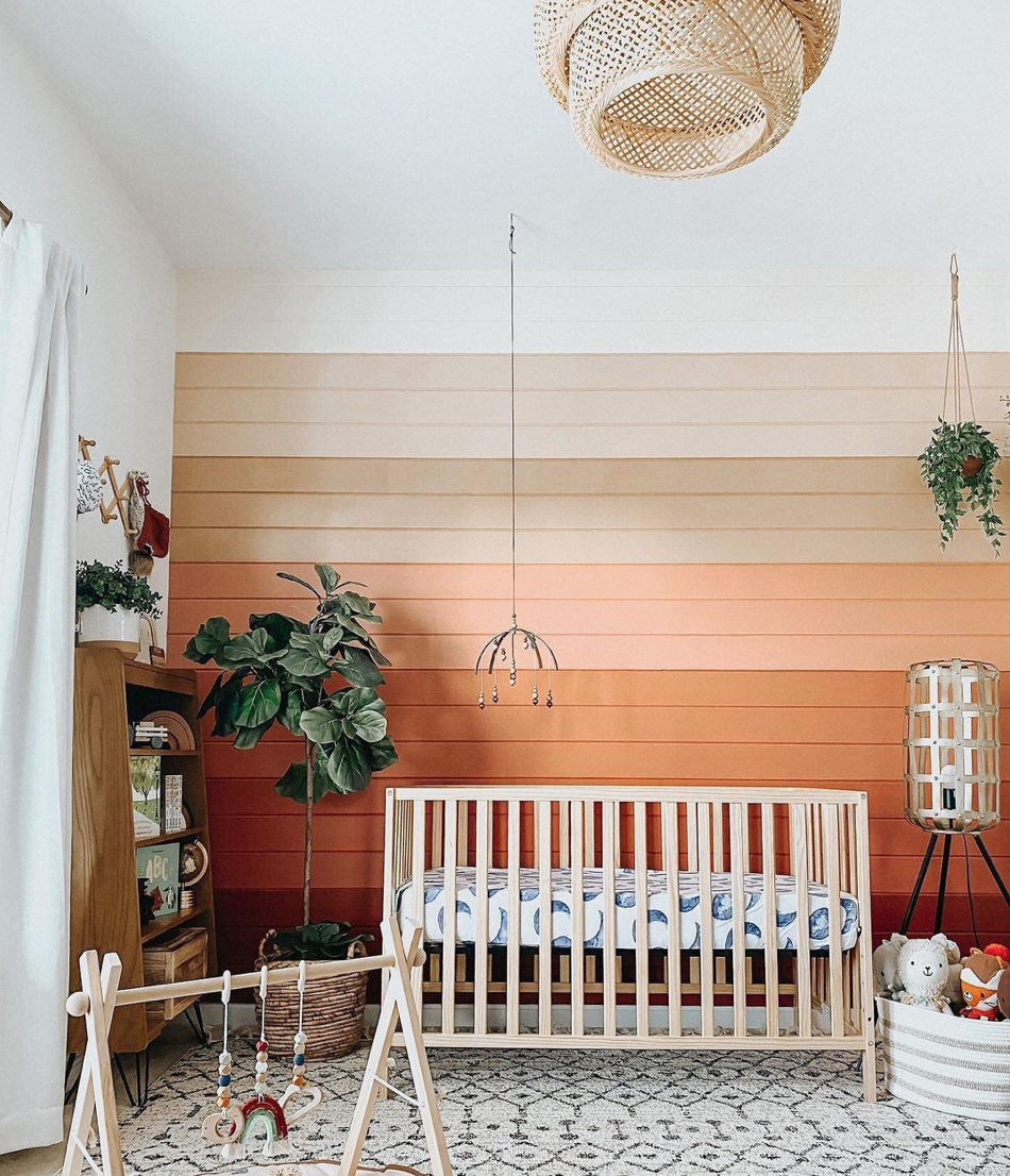 Wood Accent Walls Trend - Nursery by @bayliss.storybook