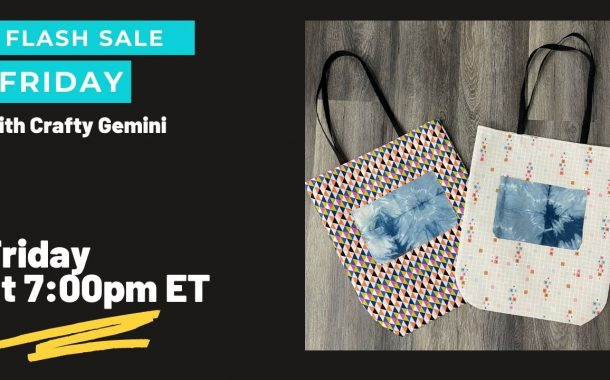 Flash Sale Friday: Round Bottom Tote Bag Course & Kit...