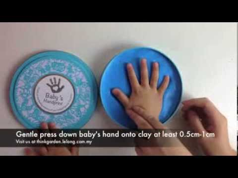 Baby Handprint Clay Kit Instruction Video by Think Garden...