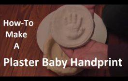 How-To Make A Plaster Baby Handprint...