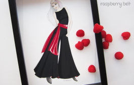100 big dresses—number 8, black flared overall....