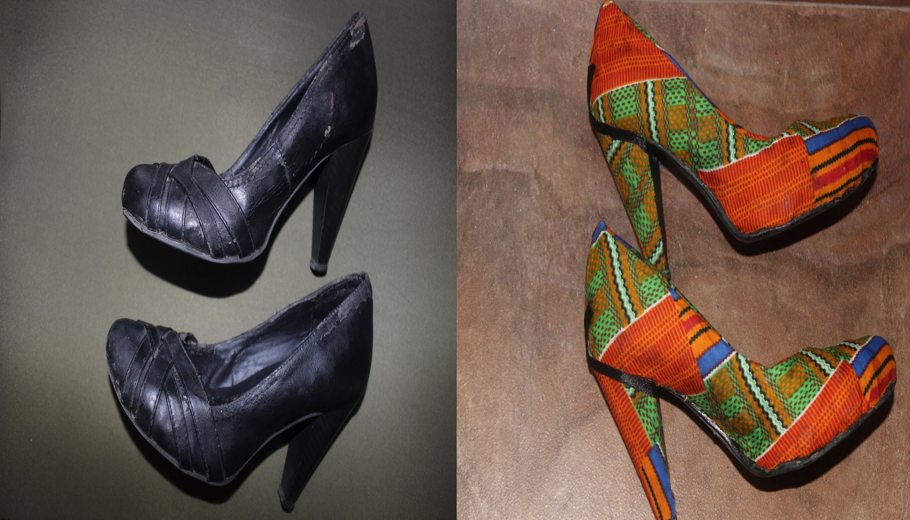 How To Revamp Shoes With Fabric  Youtube Noir...