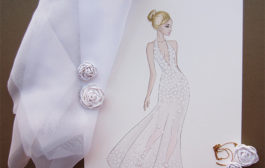 100 big dresses—number 7, small flowers....