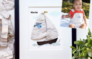 A sailboat keepsake for Mavin, and a fashion keepsake for his sis...