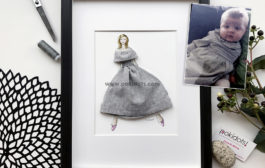 From a 3-month-old baby dress to a stylish work of art....