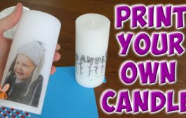 transfer a photo to a candle...