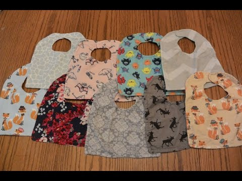 DIY Reversible Baby Bibs Tutorial   How to Make Lots: for Cheap!...