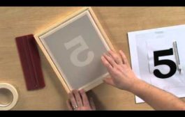 How to Screen Print Using the Stencil Technique...