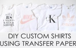 Easy Custom DIY Shirts // Transfer paper // First experience // D...