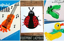 Adorable Footprint Crafts For Kids and Babies...
