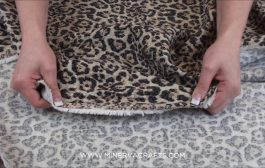Stretch Cotton Jacquard Dress Fabric Cheetah Animal Print...