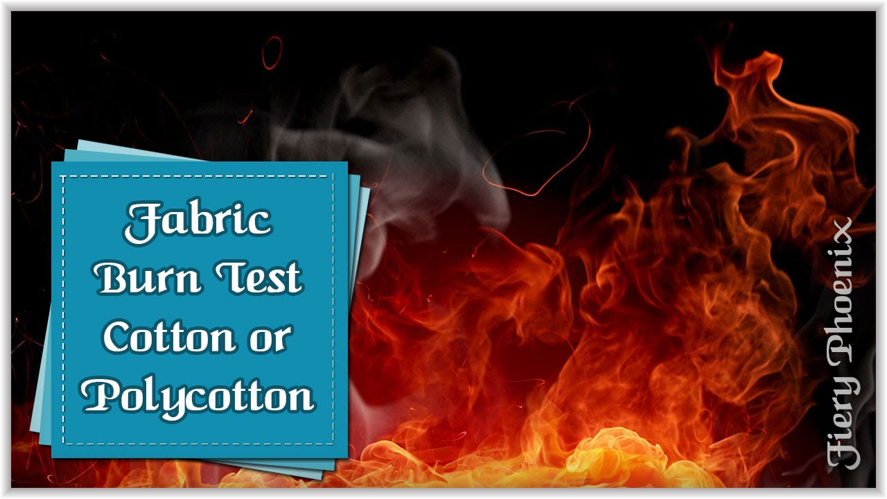 Fabric Burn Test Cotton Vs PolyCotton :: by Babs at MyFieryPhoeni...