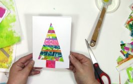 Using gel prints to make a holiday card...