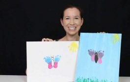 HOW TO MAKE BABY FOOTPRINT ARTWORK - BUTTERFLY...