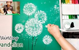 Dandelion Painting Techniques for Beginners | Easy Creative Art P...