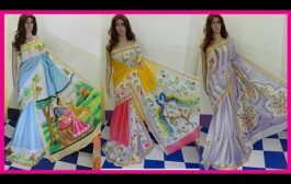 Exclusive Trendy Cotton Fabric Hand Printed Saree With Blouse Des...