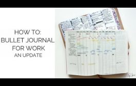 How to Bullet Journal for Work: An Update...