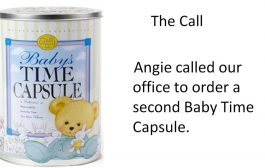 Angie's Story - Baby Shower Gift - Time Capsule Keepsake Idea...