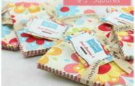 25% off ALL Charm Packs and 5″ Squares!...