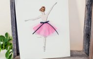 New framed keepsake: pink ballet dancer....