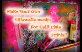 Make Your Own Silhouette Masks For ©Gelli Plate Prints!!...
