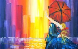 Lovers Kiss in the City |  Learn to do Acrylic Painting  for Begi...