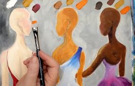 EASY method how to Mix 3 Skin tones in acrylic painting Quick Que...
