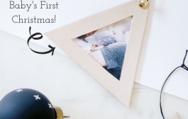 This DIY Photo Frame Ornament is Perfect for Baby's First Christm...