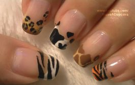 Animal Prints Nail Art Tutorial / Arte para las uñas con dibujos ...